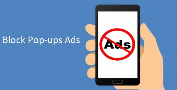 Displays Pop-ups Ads if my phone has a virus