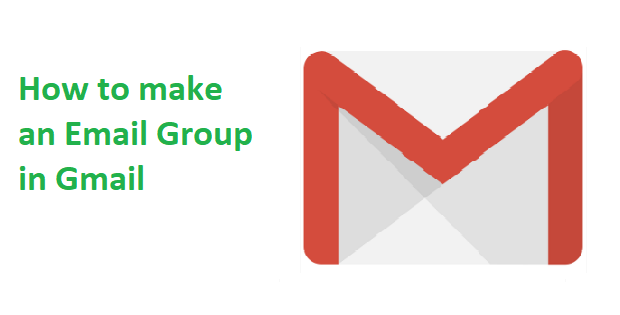 How to make an email group in Gmail?
