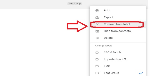 How to remove contacts from an Email Group