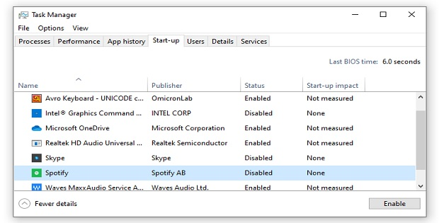 Disable unnecessary apps to make computer faster
